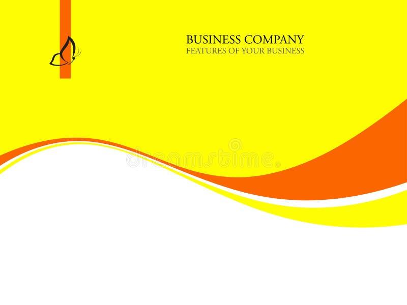 Fond de descripteur d'entreprise constituée en société avec le logo illustration stock