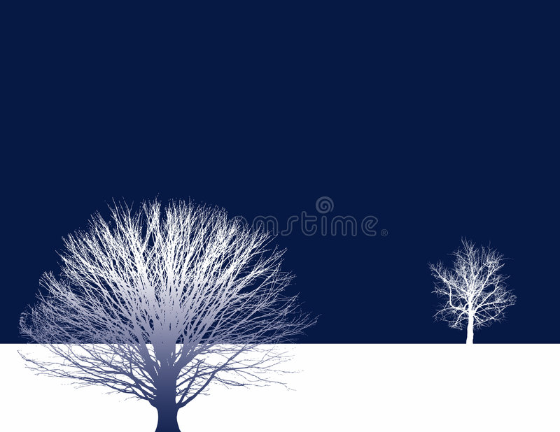 Fond de deux arbres illustration stock