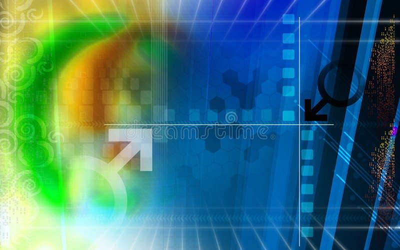 Fond de Digitals illustration stock