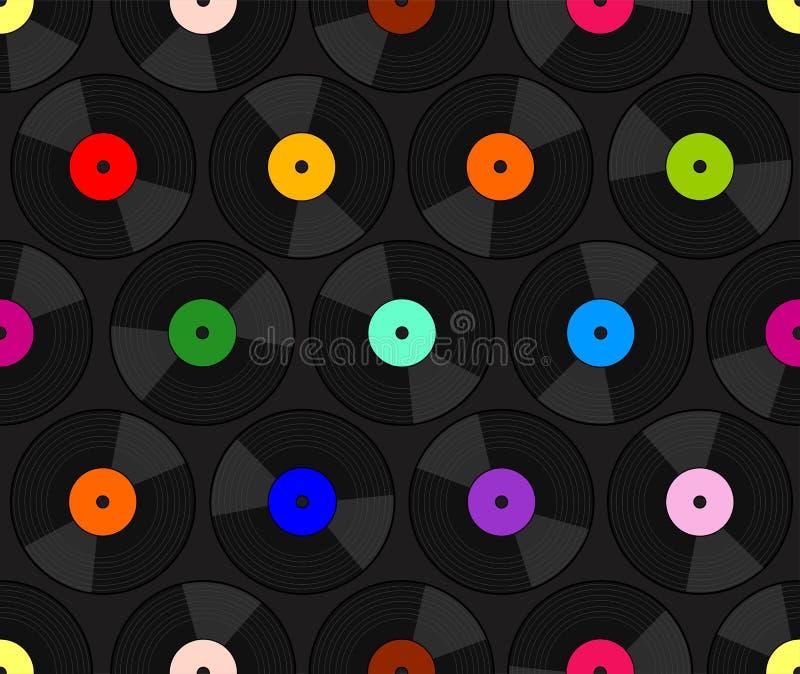 Fond de disque vinyle illustration libre de droits