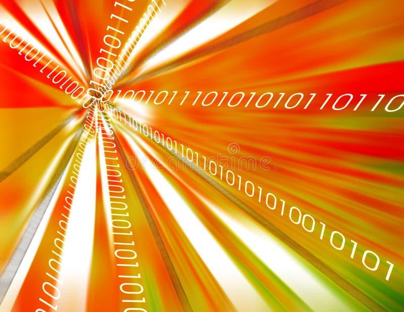 Fond de données binaires illustration de vecteur