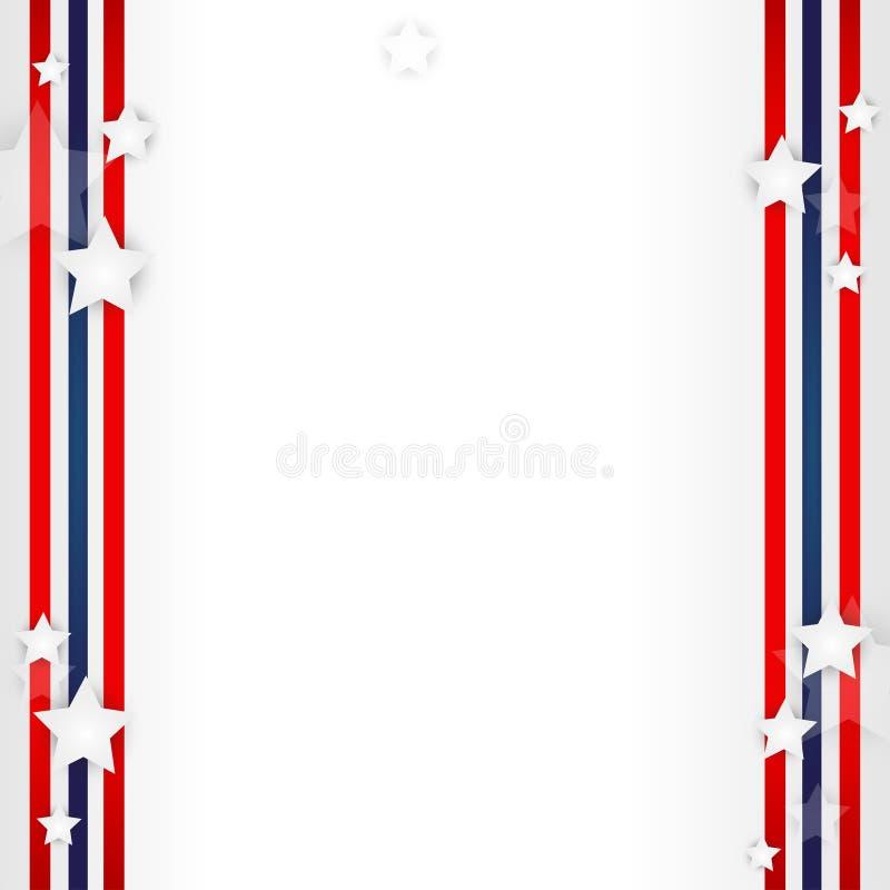Fond de drapeau américain illustration stock