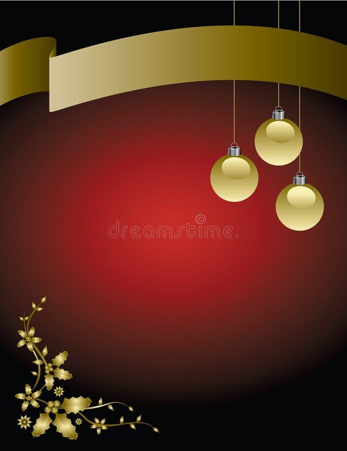 Fond de drapeau de Noël illustration stock