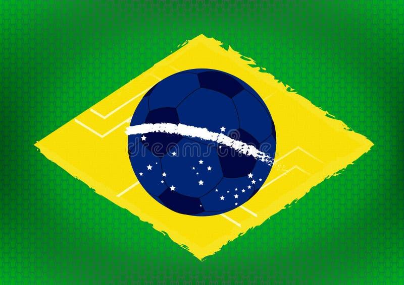 Fond de drapeau du Brésil photos stock