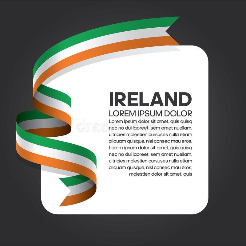 Fond de drapeau de l'Irlande illustration stock
