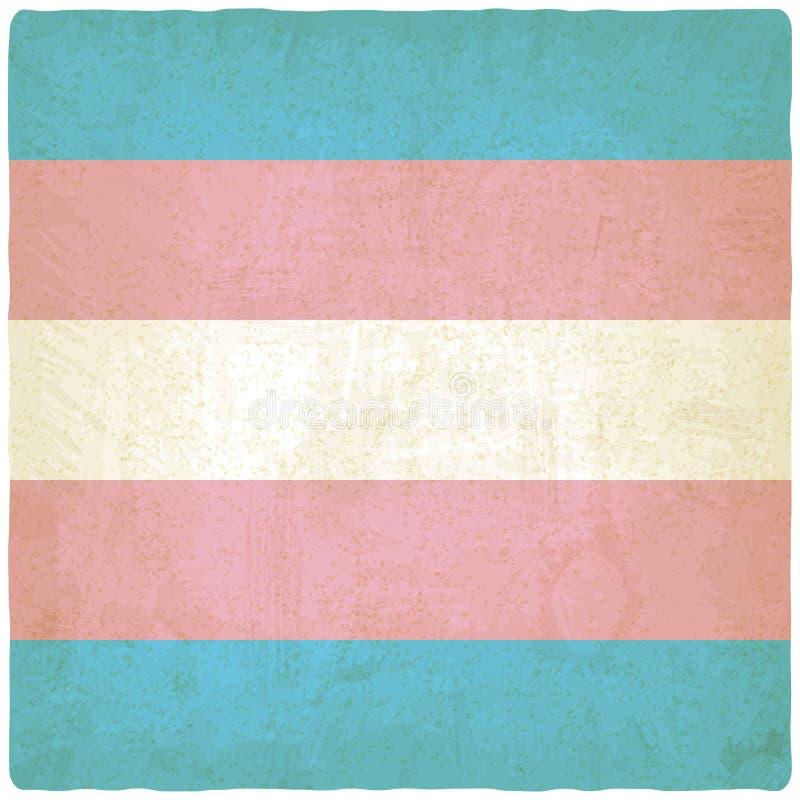 Fond de drapeau de transsexuel vieux illustration stock