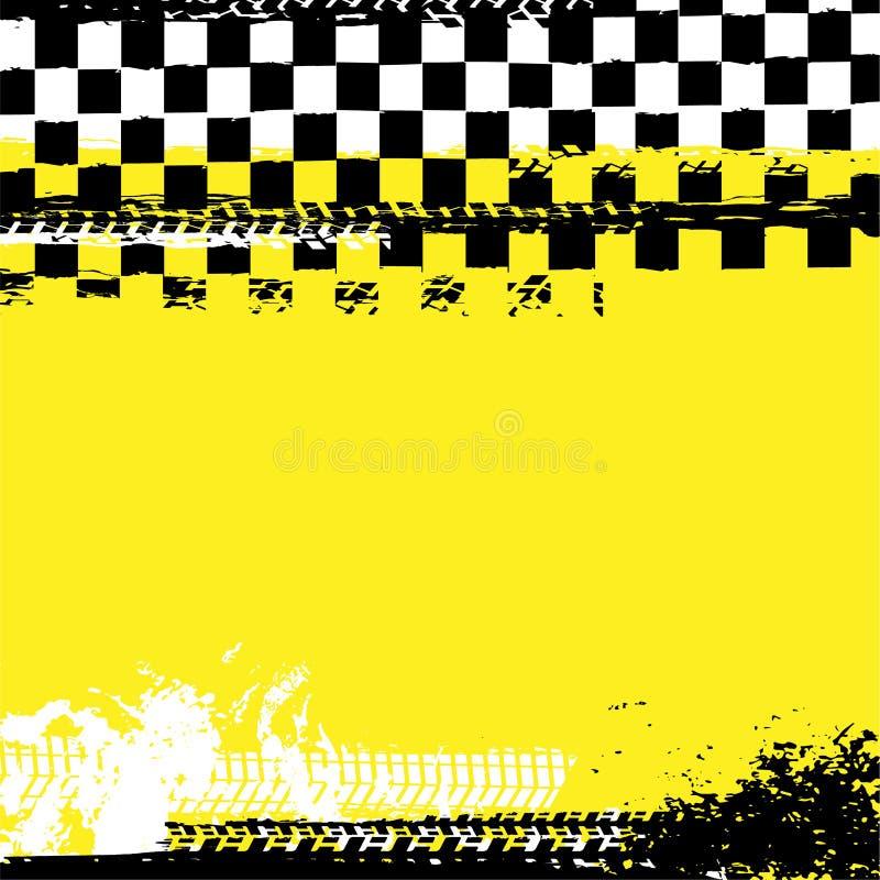 Fond de emballage à carreaux grunge illustration libre de droits