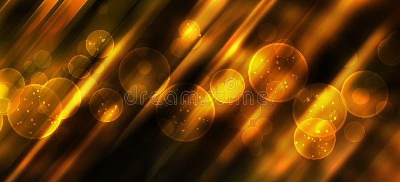 Fond de fête avec le bokeh naturel et les lumières d'or lumineuses images libres de droits