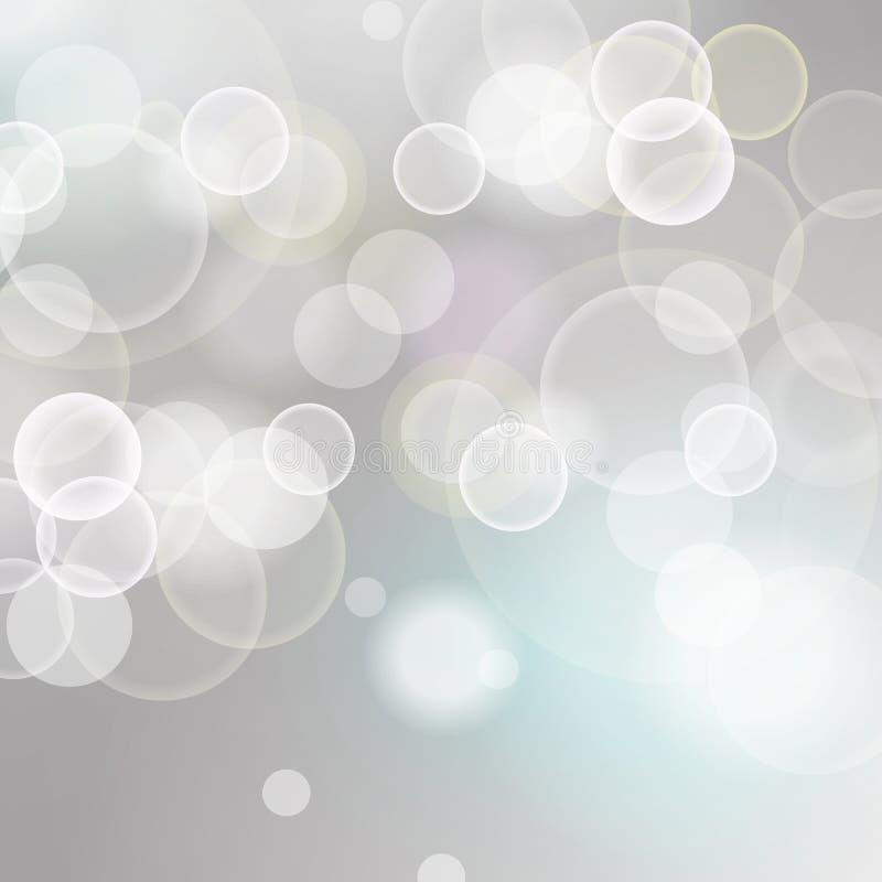 Fond de fête de lumières bleues et blanches illustration stock