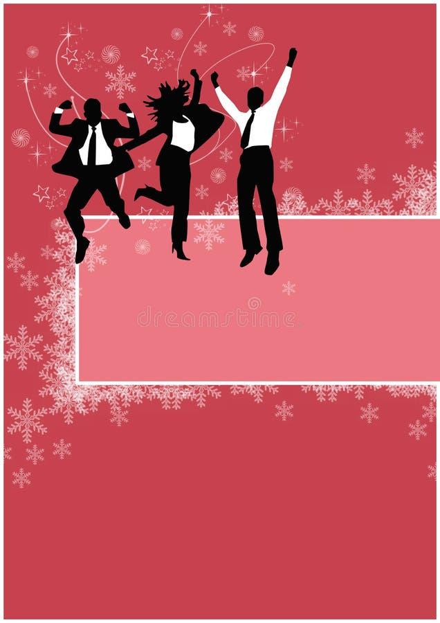 Fond de fête de Noël de bureau illustration de vecteur