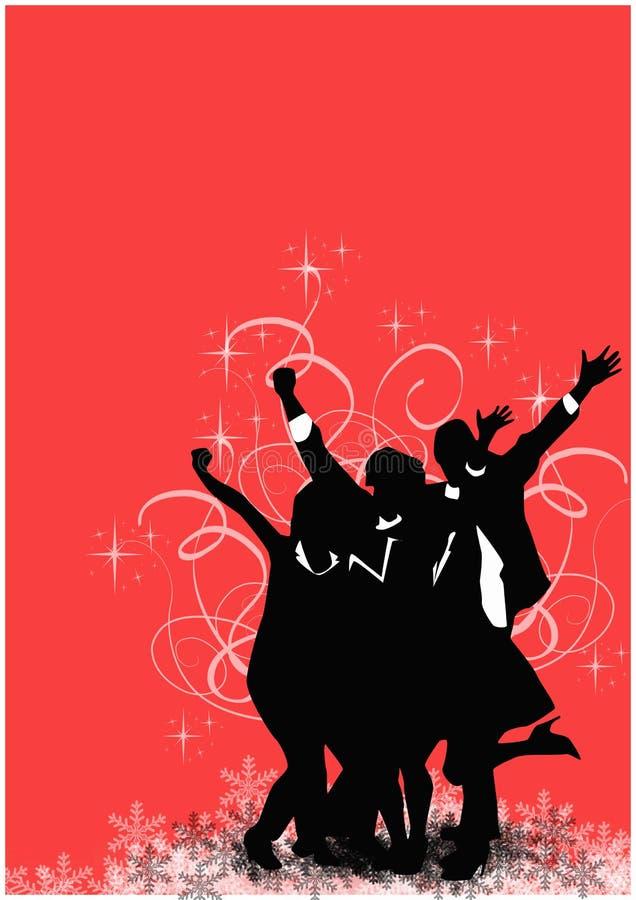 Fond de fête de Noël de bureau illustration stock
