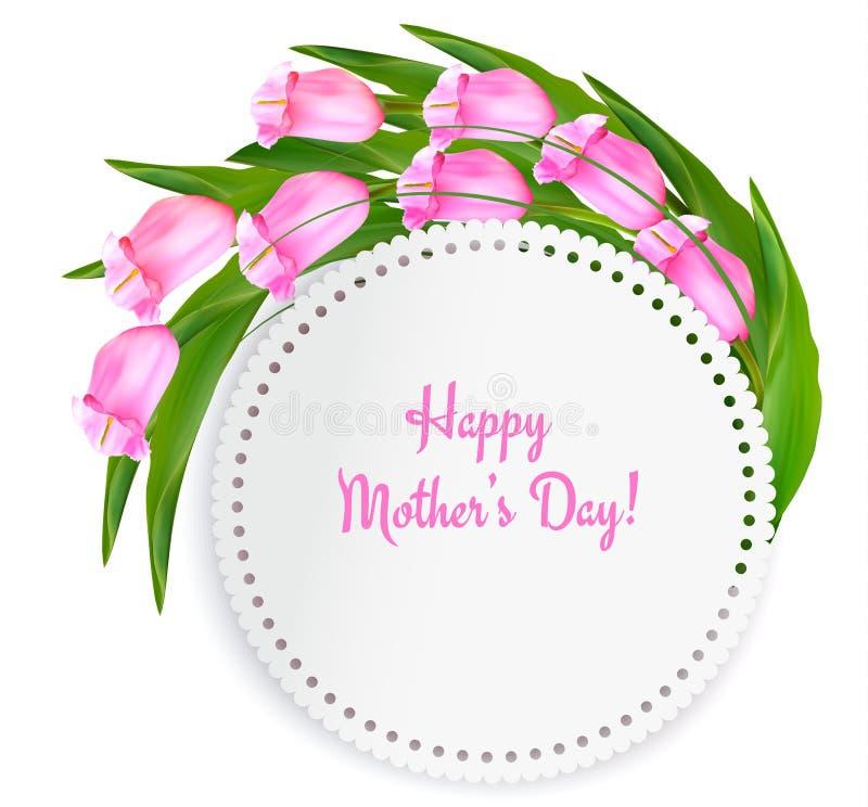 Fond de fête des mères de vacances avec obtenir la carte illustration de vecteur