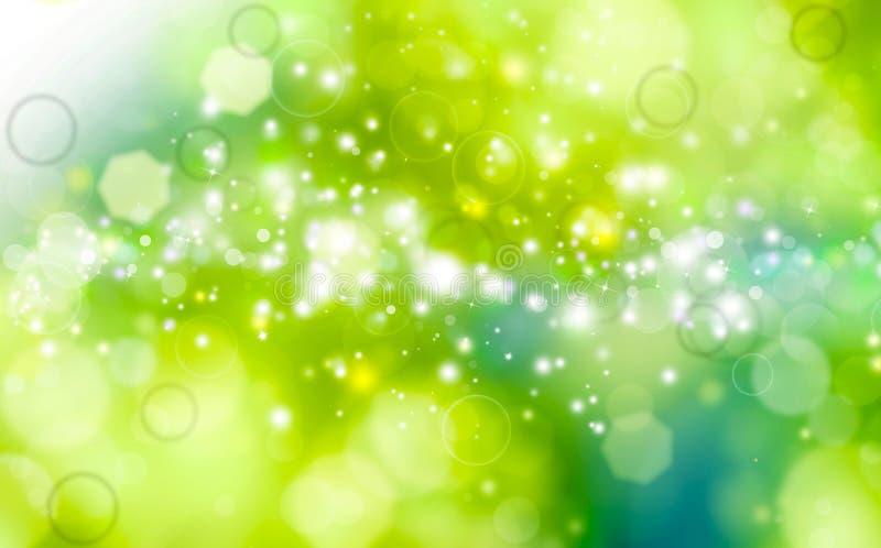 Fond de fête vert illustration stock