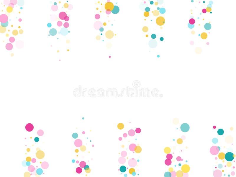 Fond de f?te de confettis ronds de Memphis illustration libre de droits