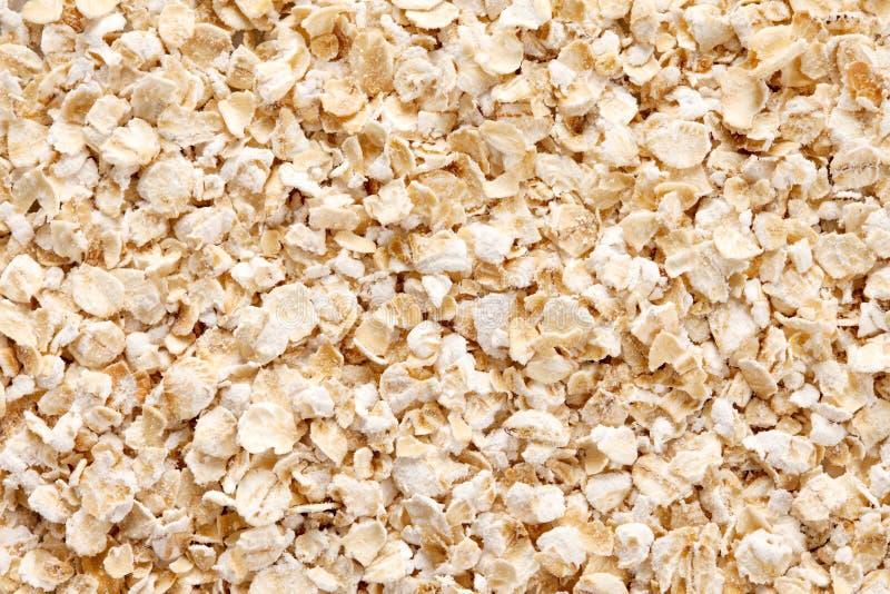 Fond de farine d'avoine (avoine roulée) images libres de droits