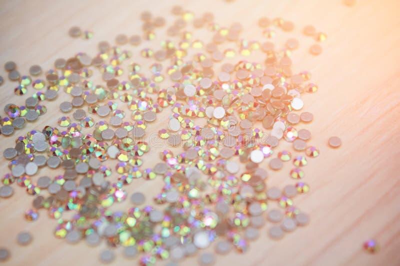 Fond de fausse pierre Modèle de cristal de fausse pierre de Bling images stock