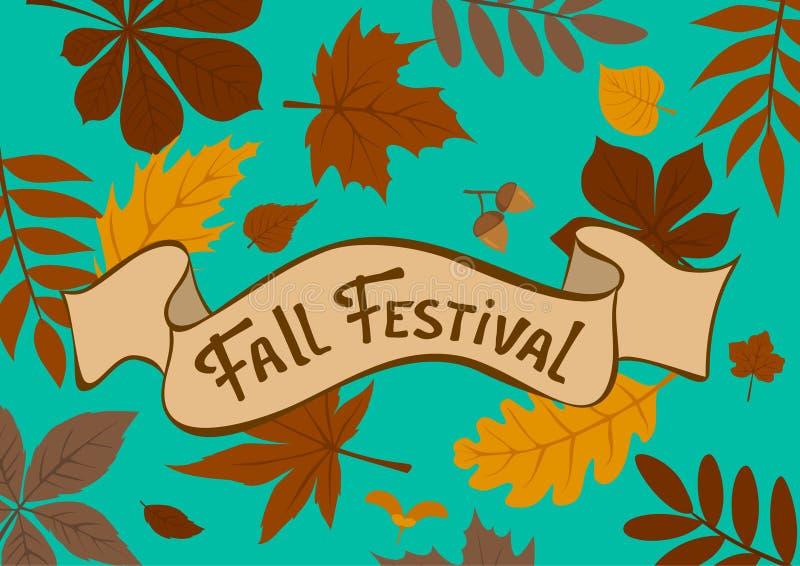 Fond de feuilles d'automne de festival de chute illustration libre de droits