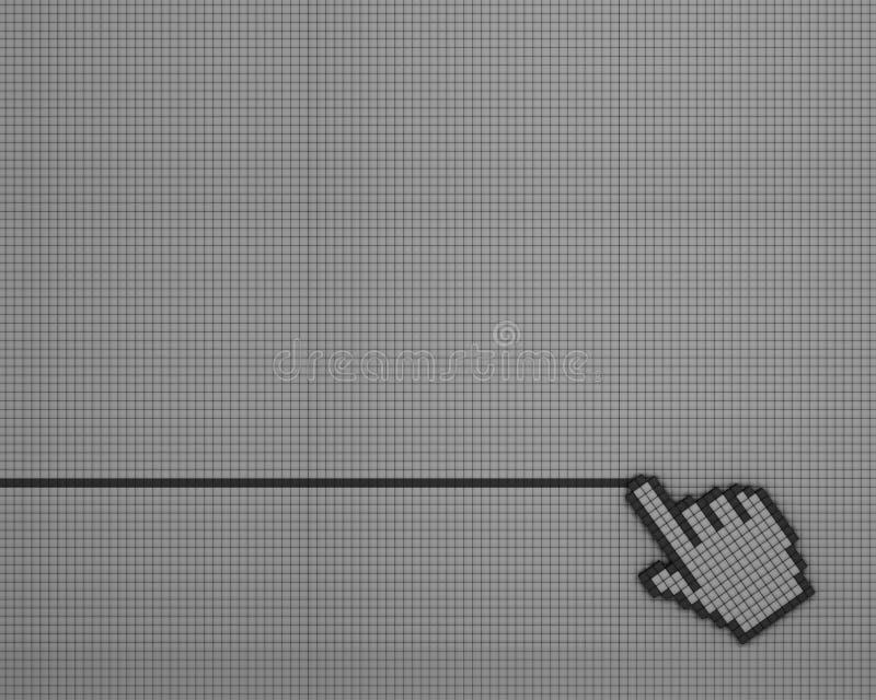Fond de flèche indicatrice de souris de main illustration stock