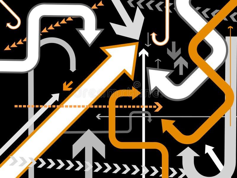 Fond de flèches de vecteur illustration de vecteur