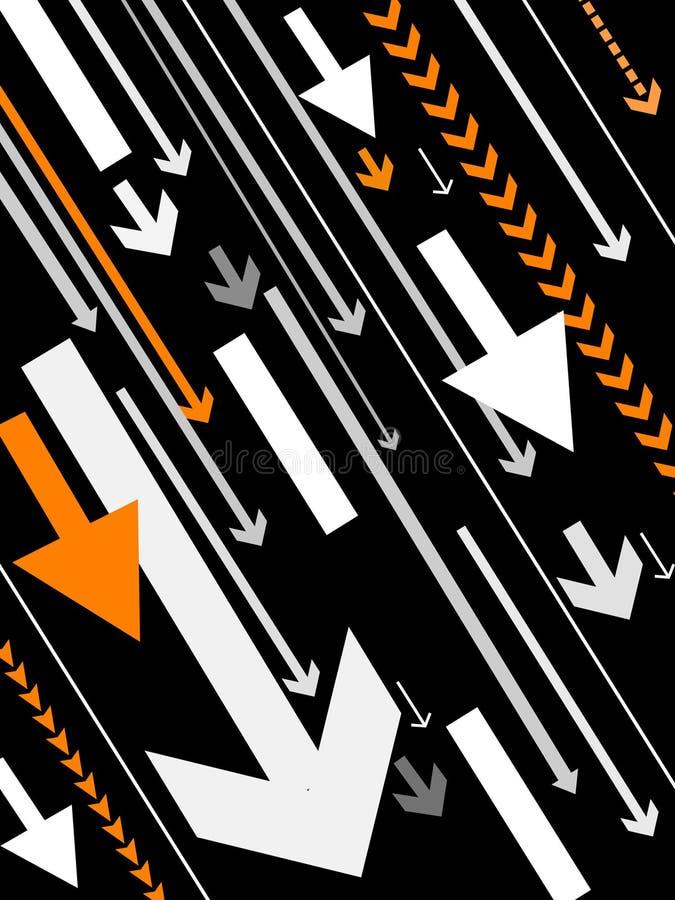 Fond de flèches de vecteur illustration libre de droits