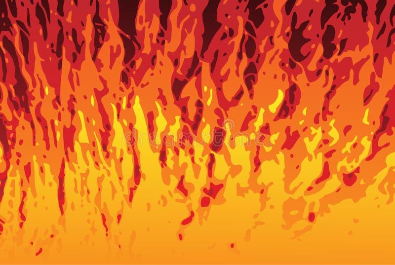 Fond de flammes illustration de vecteur