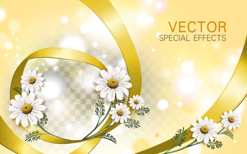 Fond de fleur de camomille illustration stock