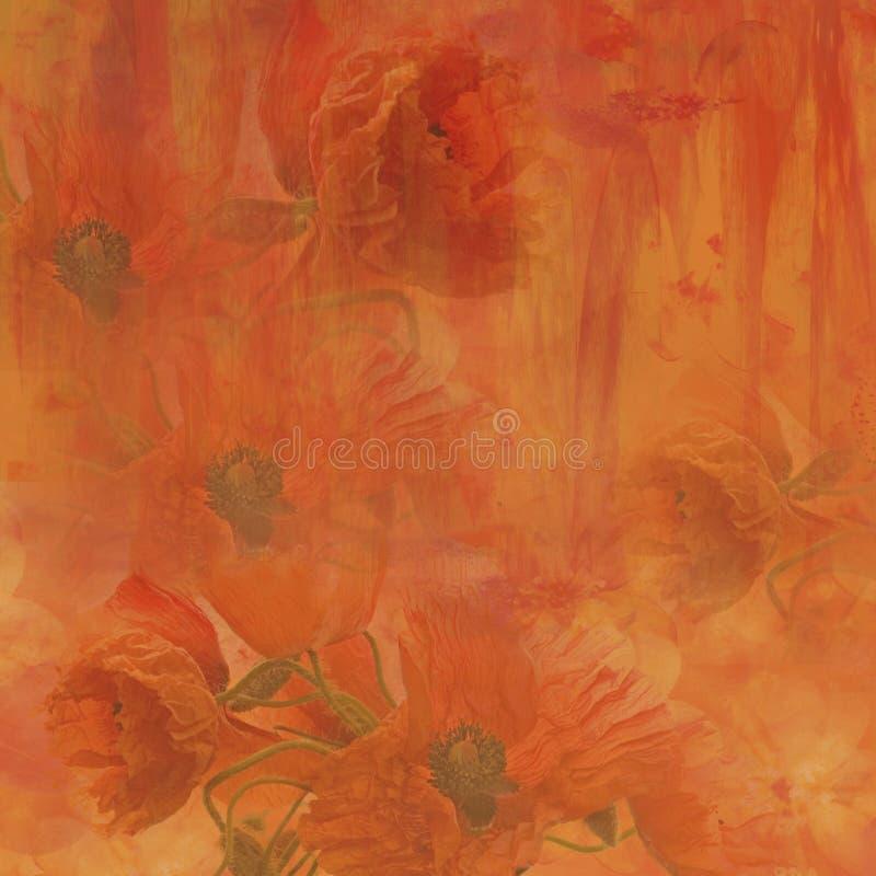Fond de fleur de pavot illustration stock
