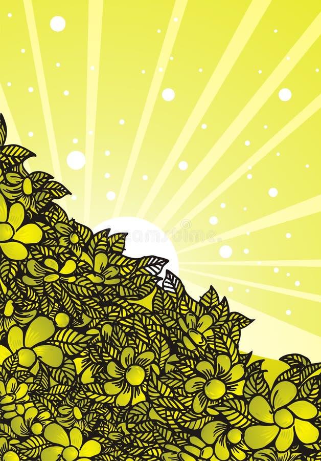 Download Fond De Fleur Et De Lumière Du Soleil Illustration de Vecteur - Illustration du grunge, points: 8668358