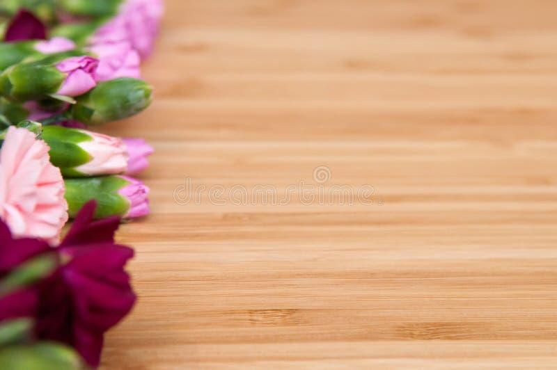 Fond de fleur et en bois image libre de droits