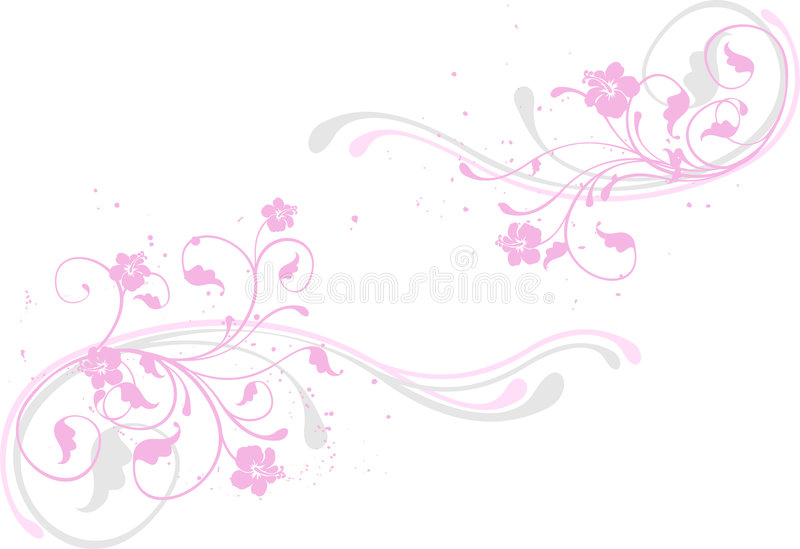 Fond de fleur, rose illustration stock