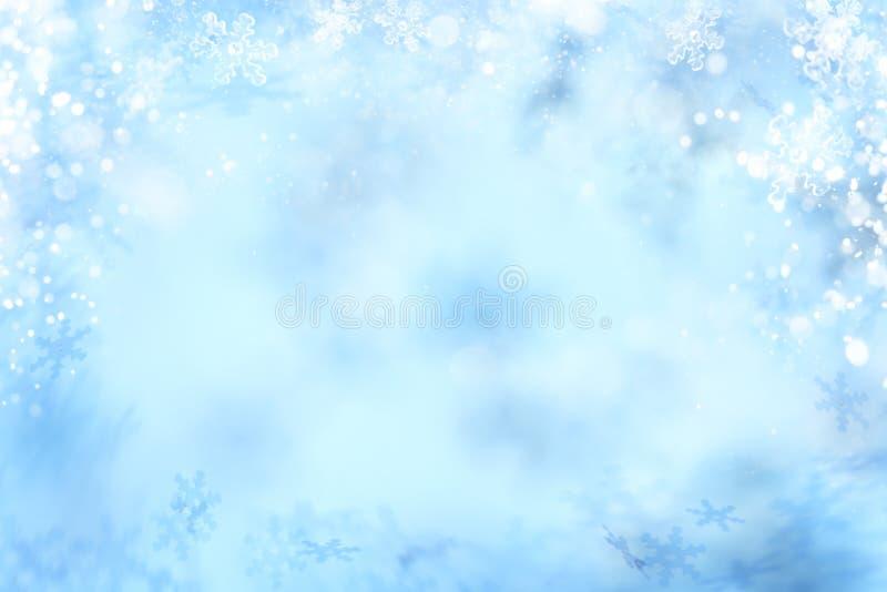 Fond de flocon de neige, abrégé sur milieux de flocon de neige d'hiver illustration de vecteur
