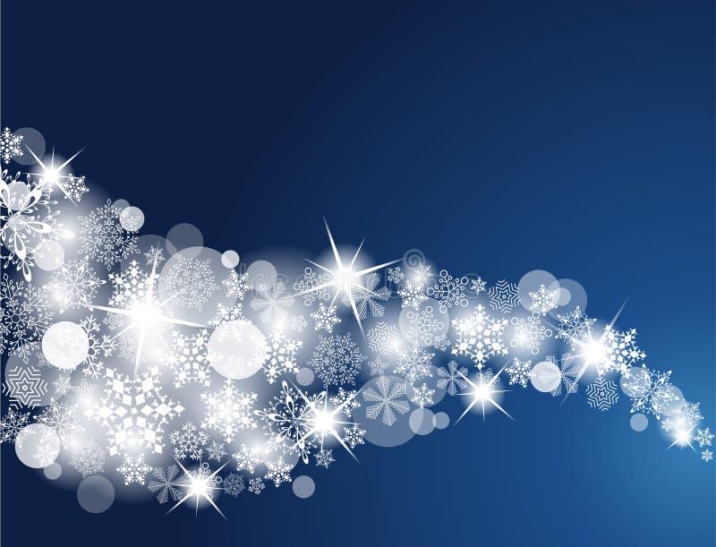 Fond de flocon de neige de l'hiver illustration libre de droits