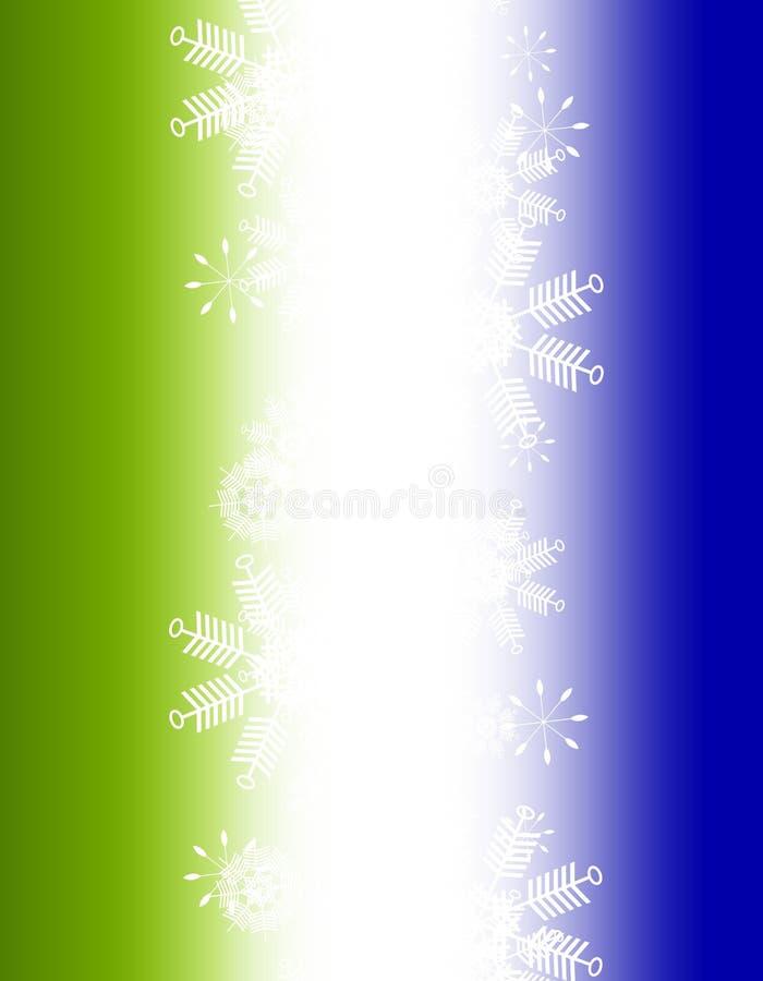 Fond de flocon de neige de Noël de vert bleu de gradient illustration libre de droits