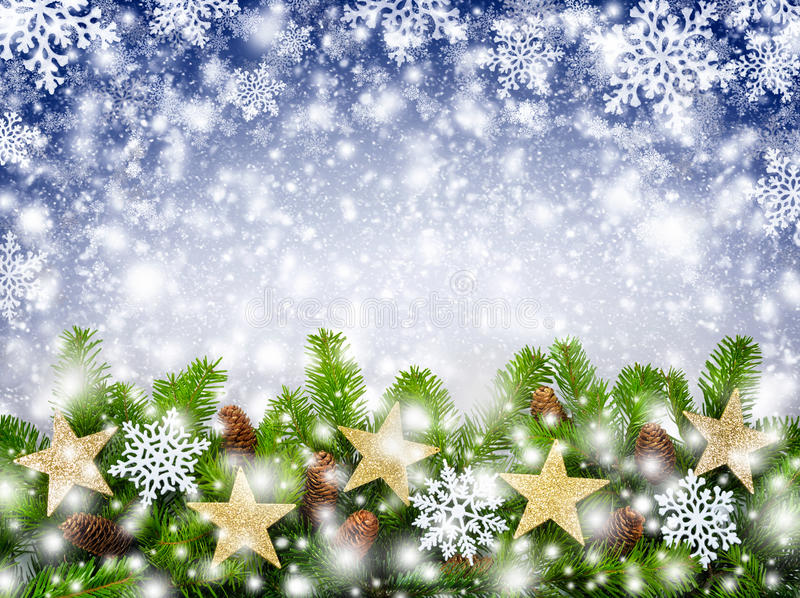 Fond de flocons de neige de Noël photos stock