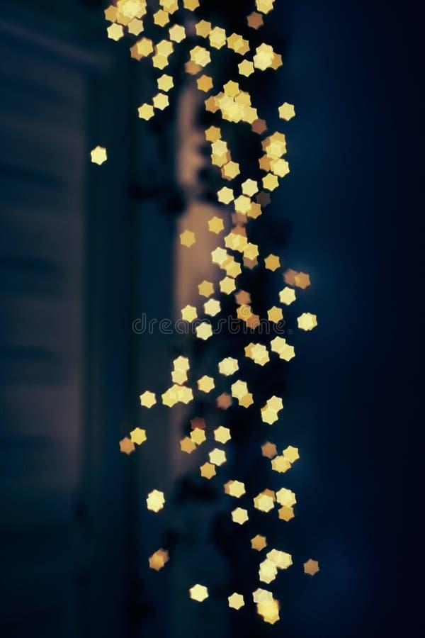 Fond de flou de bokeh de lumières des étoiles photos stock