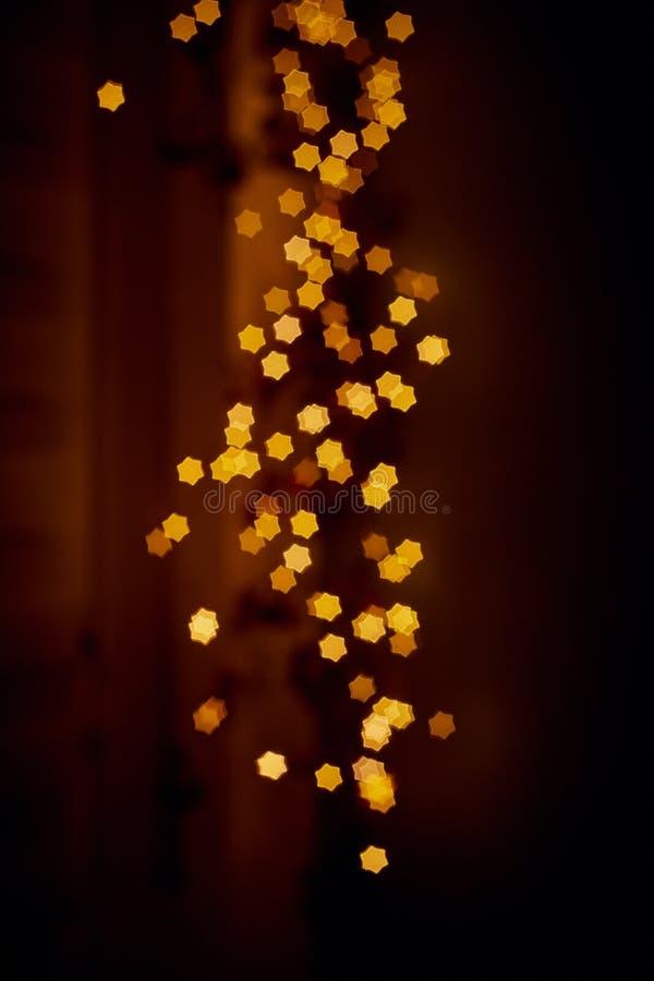 Fond de flou de bokeh de lumières des étoiles photos libres de droits