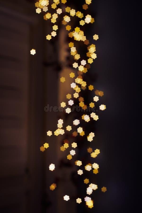 Fond de flou de bokeh de lumières des étoiles photographie stock libre de droits