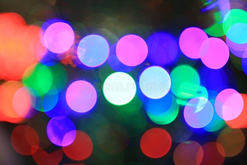 Fond de flou coloré de lumières de Bokeh photo libre de droits