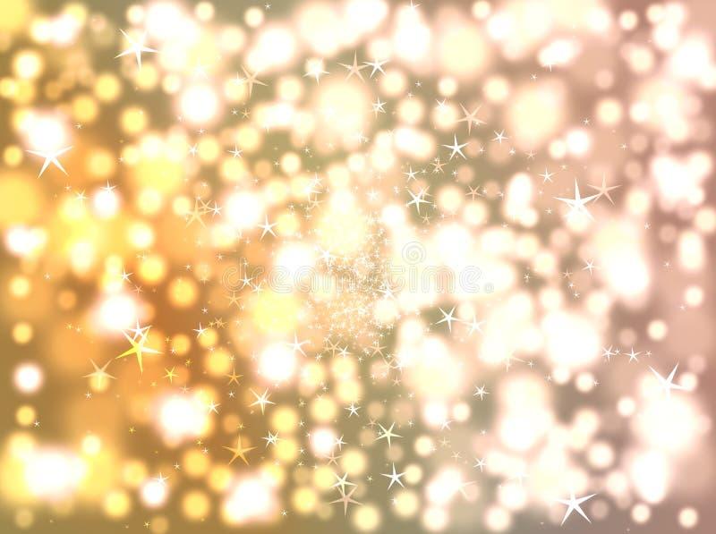 Fond de flou des étoiles et du bokeh photographie stock libre de droits
