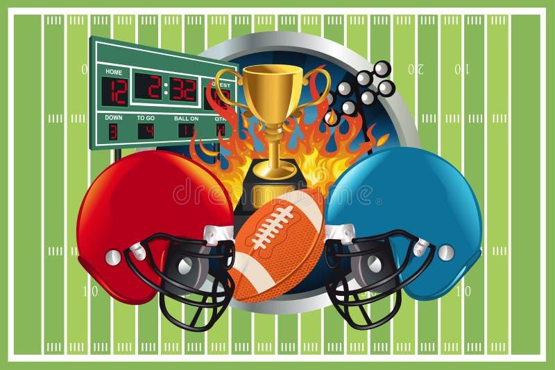 Fond de football américain illustration libre de droits