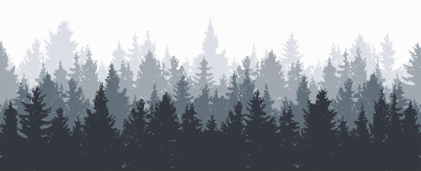 Fond de forêt illustration stock