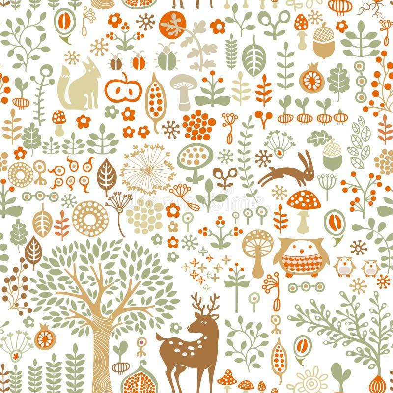 Fond de forêt illustration libre de droits