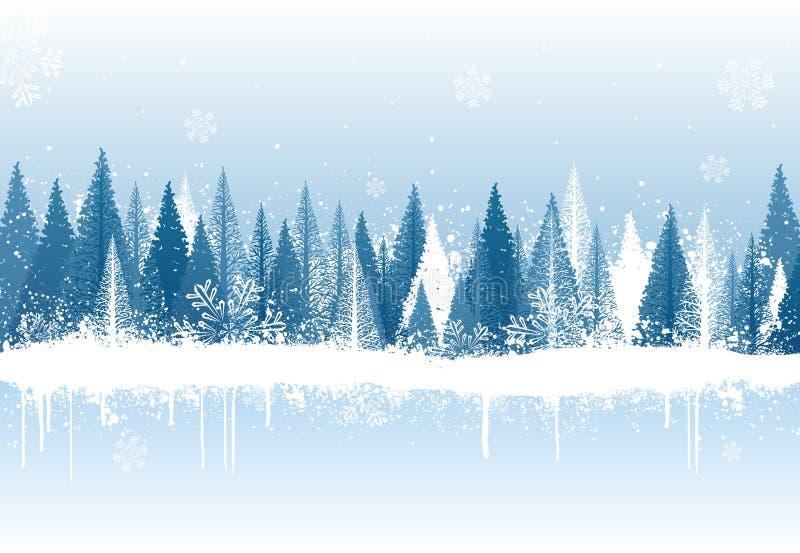 Fond de forêt de l'hiver illustration libre de droits