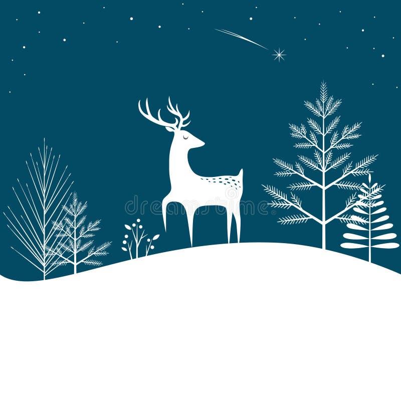 Fond de forêt de Noël illustration de vecteur