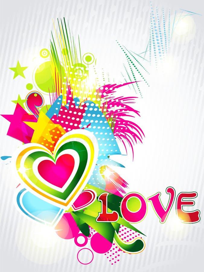Fond de formes de coeurs de Valentines illustration de vecteur