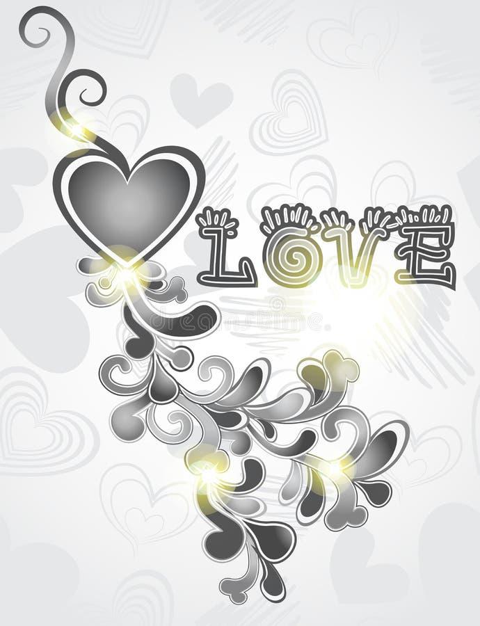 Fond de formes de coeurs de Valentines illustration libre de droits