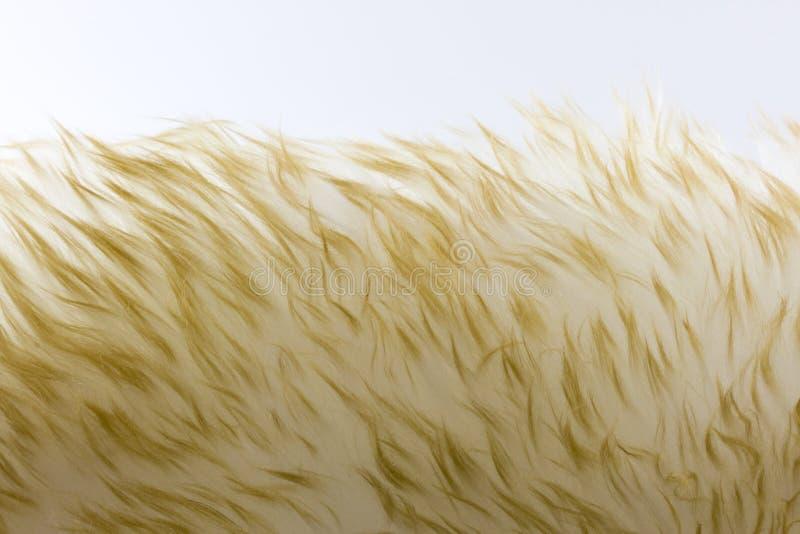 Fond de fourrure de Lambskin avec les configurations abstraites photographie stock
