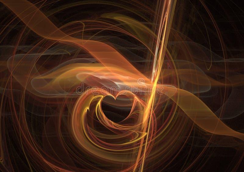 Fond de fractale de coeur illustration de vecteur