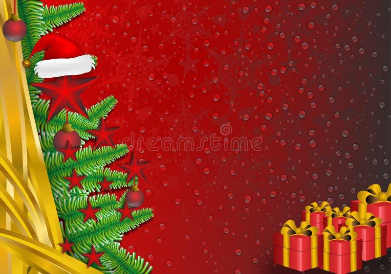 Fond de frontière de décorations de Noël illustration stock