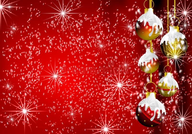 Fond de frontière de décorations de Noël illustration de vecteur